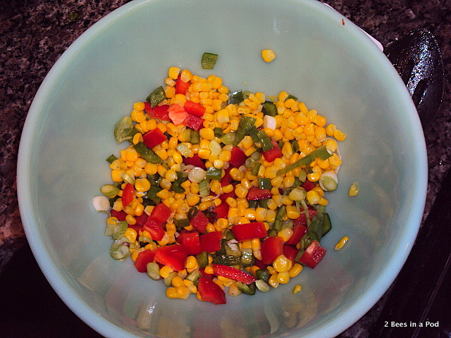 Corn, Scallions, Red Pepper, Green Pepper - Weight Watchers Southwestern Chicken Salad