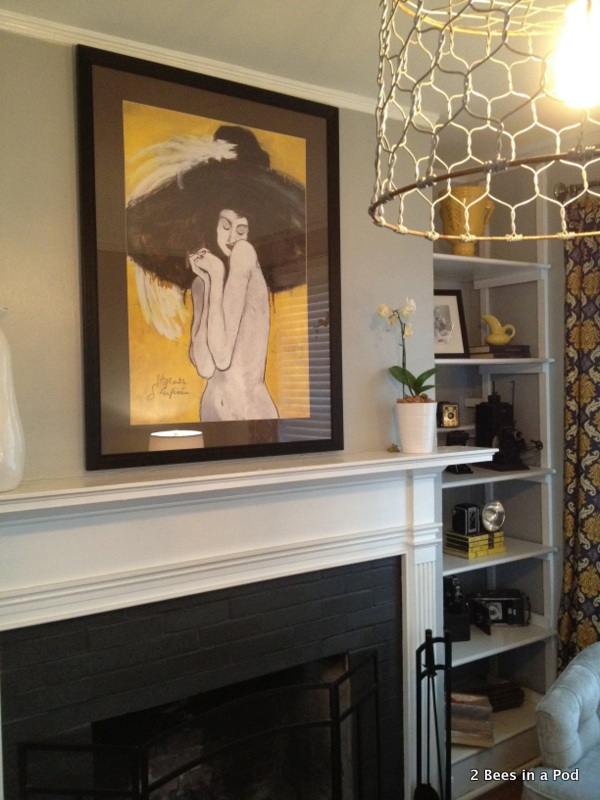 Fireplace & Bookshelf After