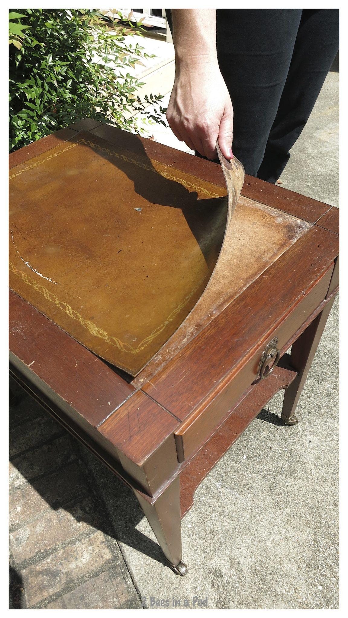 Tiffany table - before