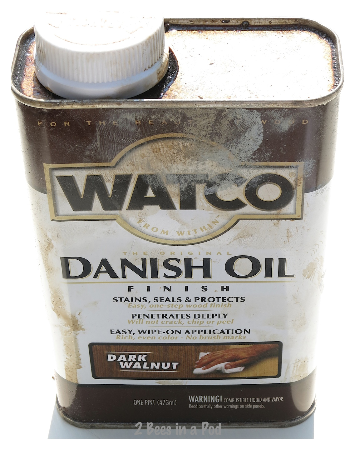 Danish oil for the antiquing process