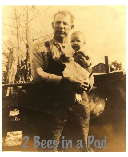 McQueen Johnson - my great grandfather holding Geniece my great aunt