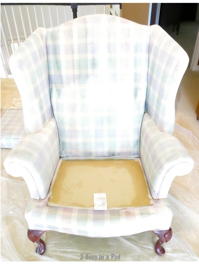 Painted Wing Chair...it worked!