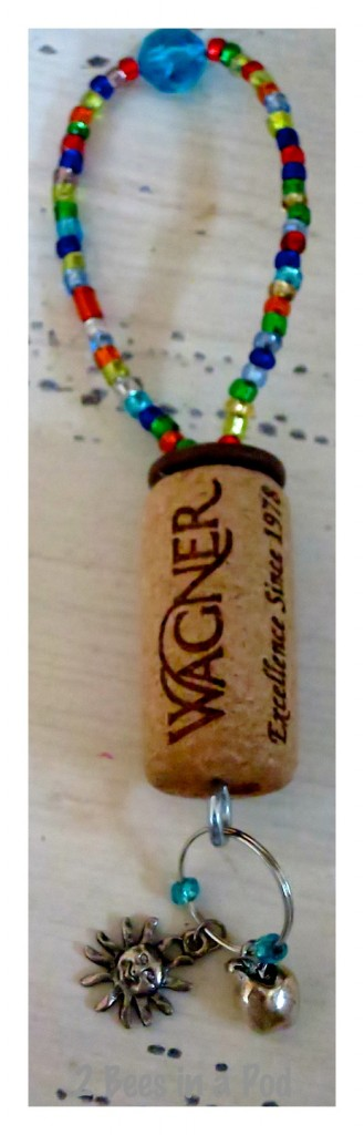 Wine bottle charm - represents NYC and Bermuda