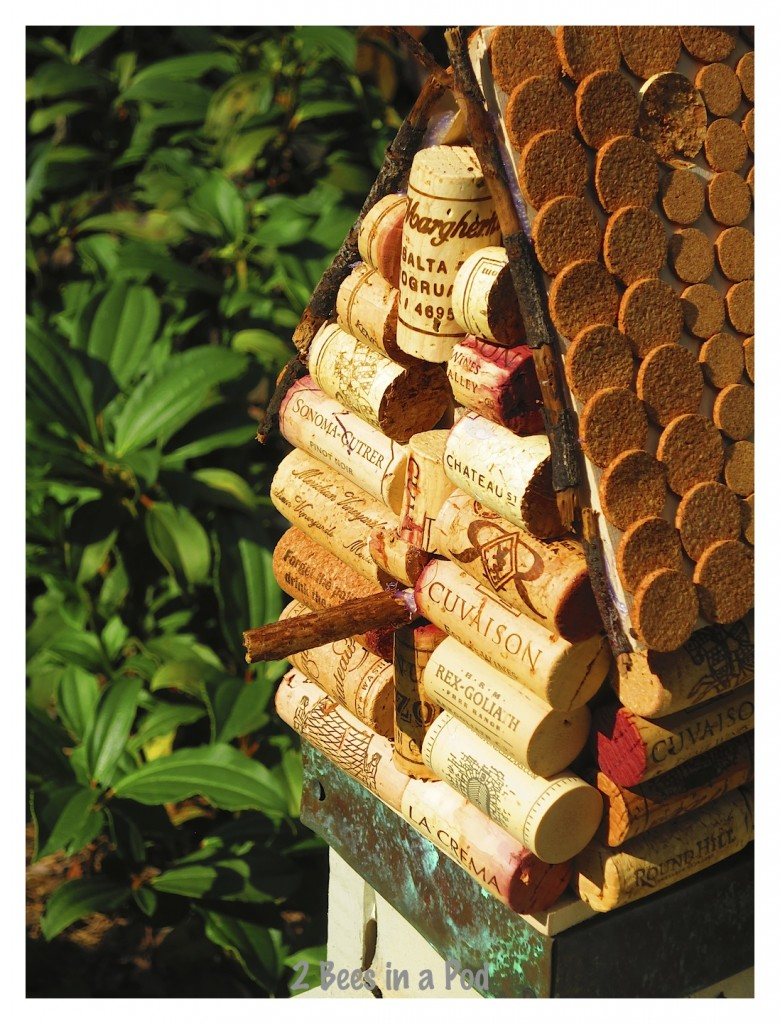 using cork stickers makes this DIY birdhouse a little easier. They can be found at any home decor store.