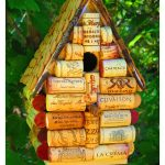 Wine cork birdhouse