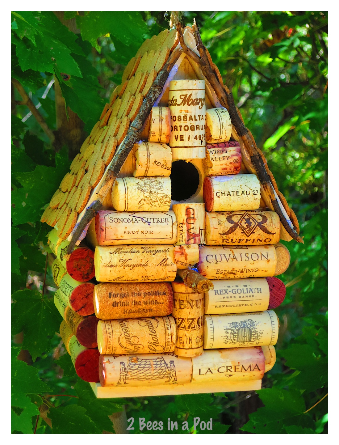 Wine Cork Birdhouse on Spring Bulletin Boards With Bees