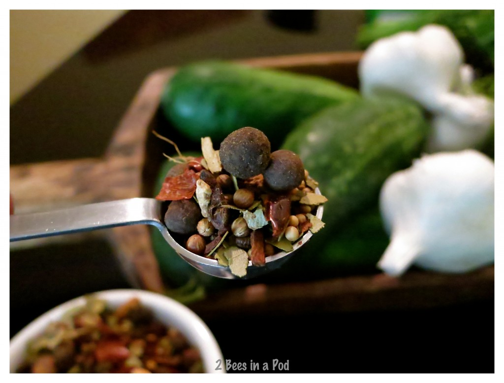 Pickling spices for dill pickles