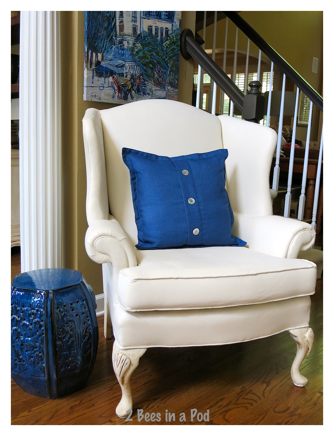 Painted Wing Chair...it worked! wing chair. A great project