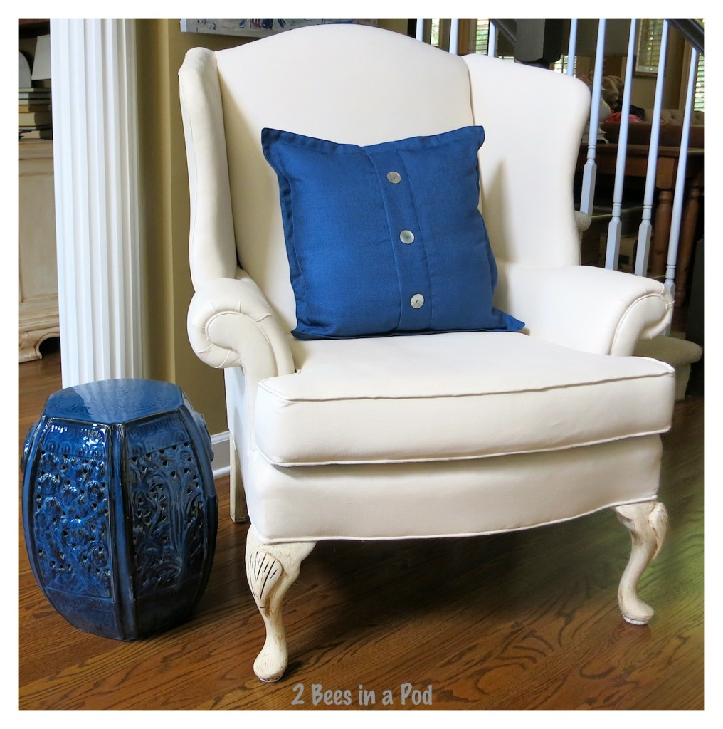 Painted Wing Chair And Update