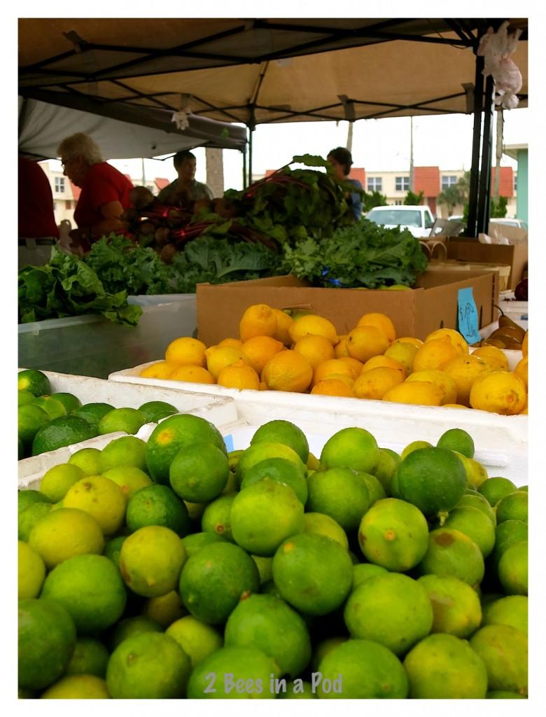 Freshly picked Florida lemons and limes