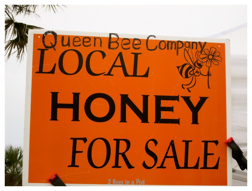 Now come on :) of course I loved the Queen Bee Company and their local honey! Another St. Augustine Beach Farmers Market.