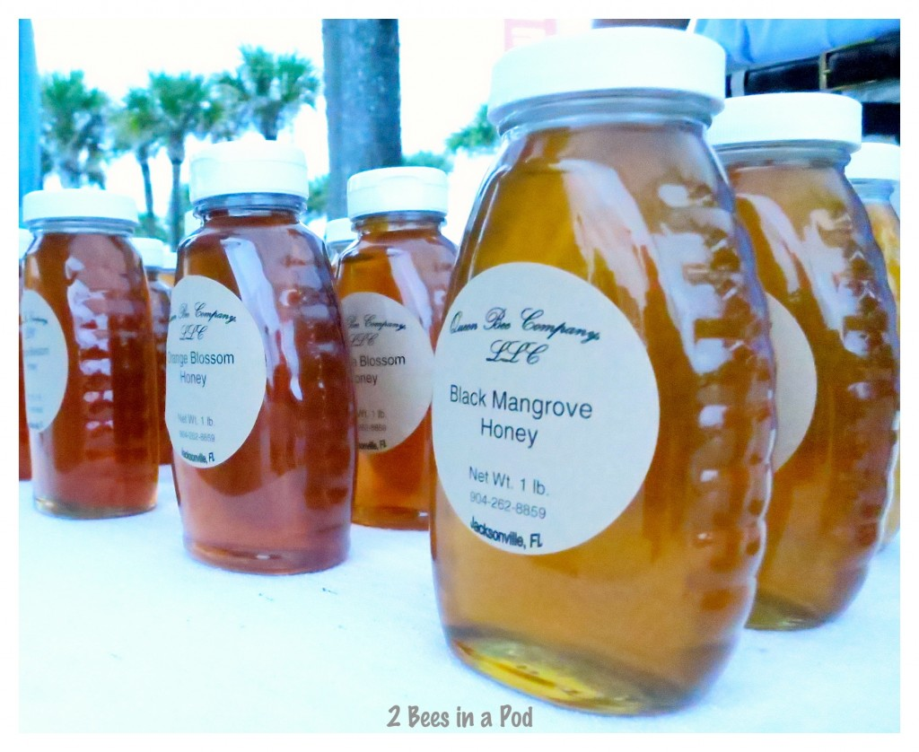 We got to do a taste test of the Queen Bee Company honeys - fresh and delicious local honey