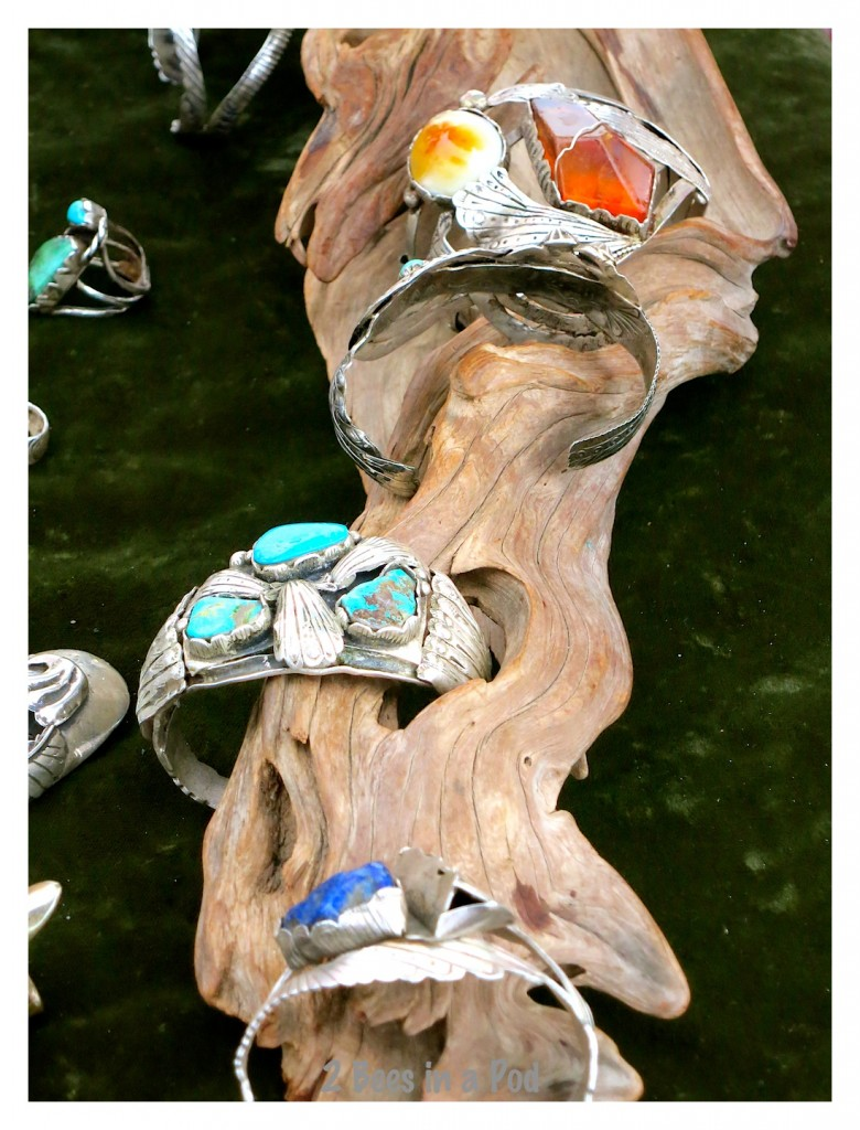 More of Chaiz's jewelry designs - I love his display at the St. Augustine Beach, Florida farmers market
