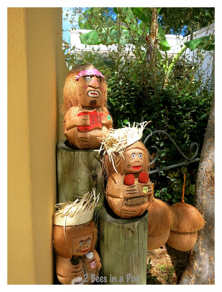 Shopping in historic St. Augustine - who doesn't need coconut art?