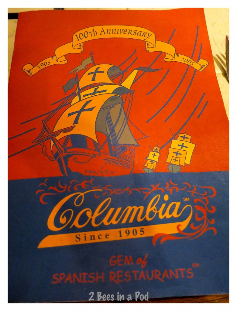 Columbia Restaurant in St. Augustine, Florida. Fabulous Cuban and Spanish food