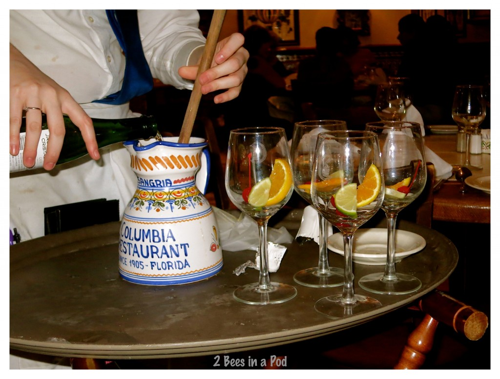 Columbia Restaurant in St. Augustine, Florida - sangria is made and served table-side