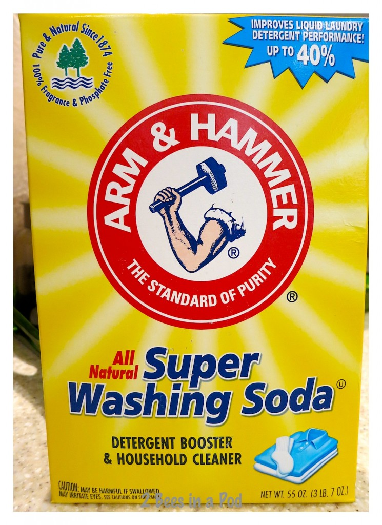 Super Washing Soda used to skeletonize leaves for decorative display