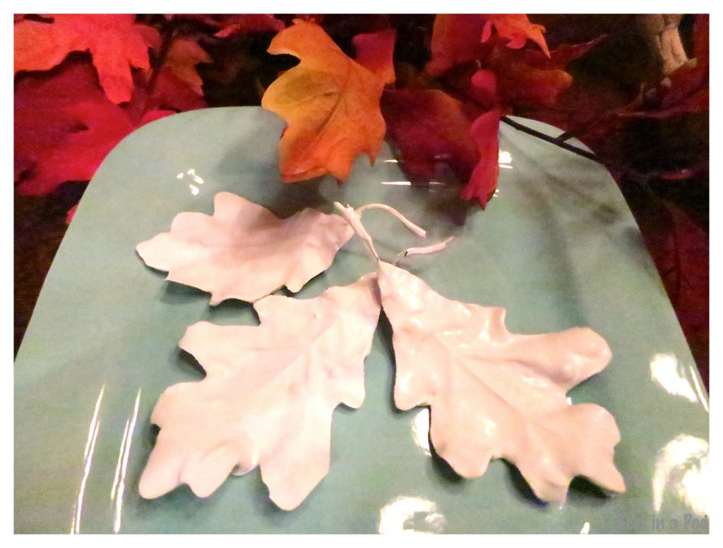 Let the plaster dry on the silk Fall leaves