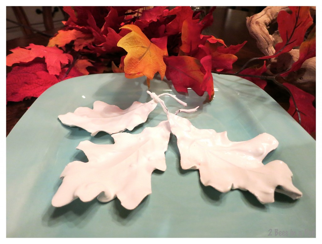 Finished plaster Fall leaves