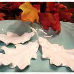 Plaster on silk Fall leaves