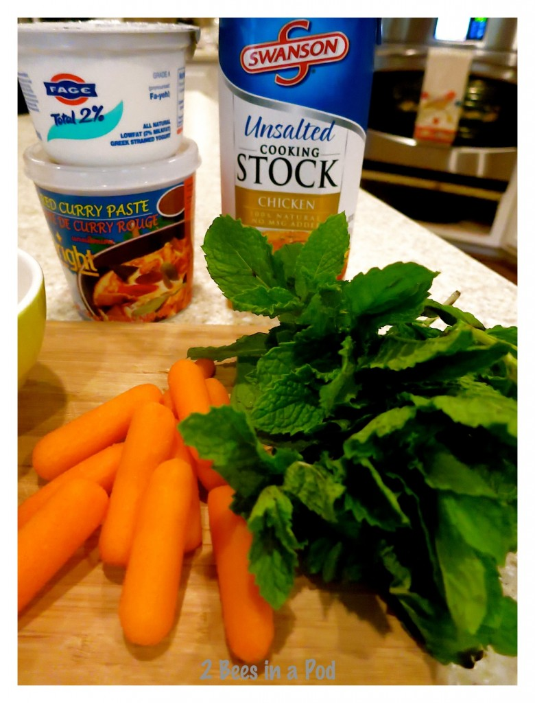 Ingredients for Creamy Thai Carrot Soup - another great Weight Watchers recipe