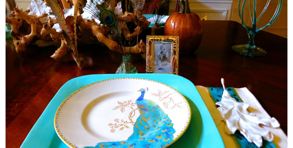 Fall Tablescape – Using Turquoise and Copper…