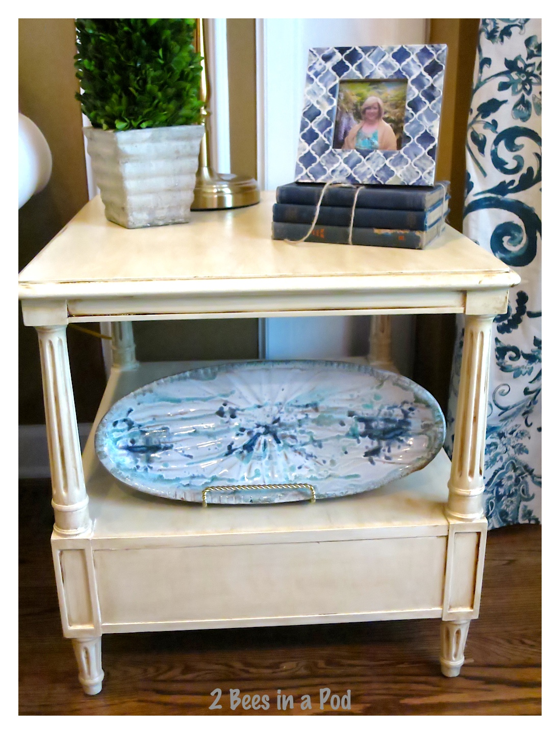 We couldn't believe what the sticker price was for this thrifted find and put our paint skills to work for this painted end table project.