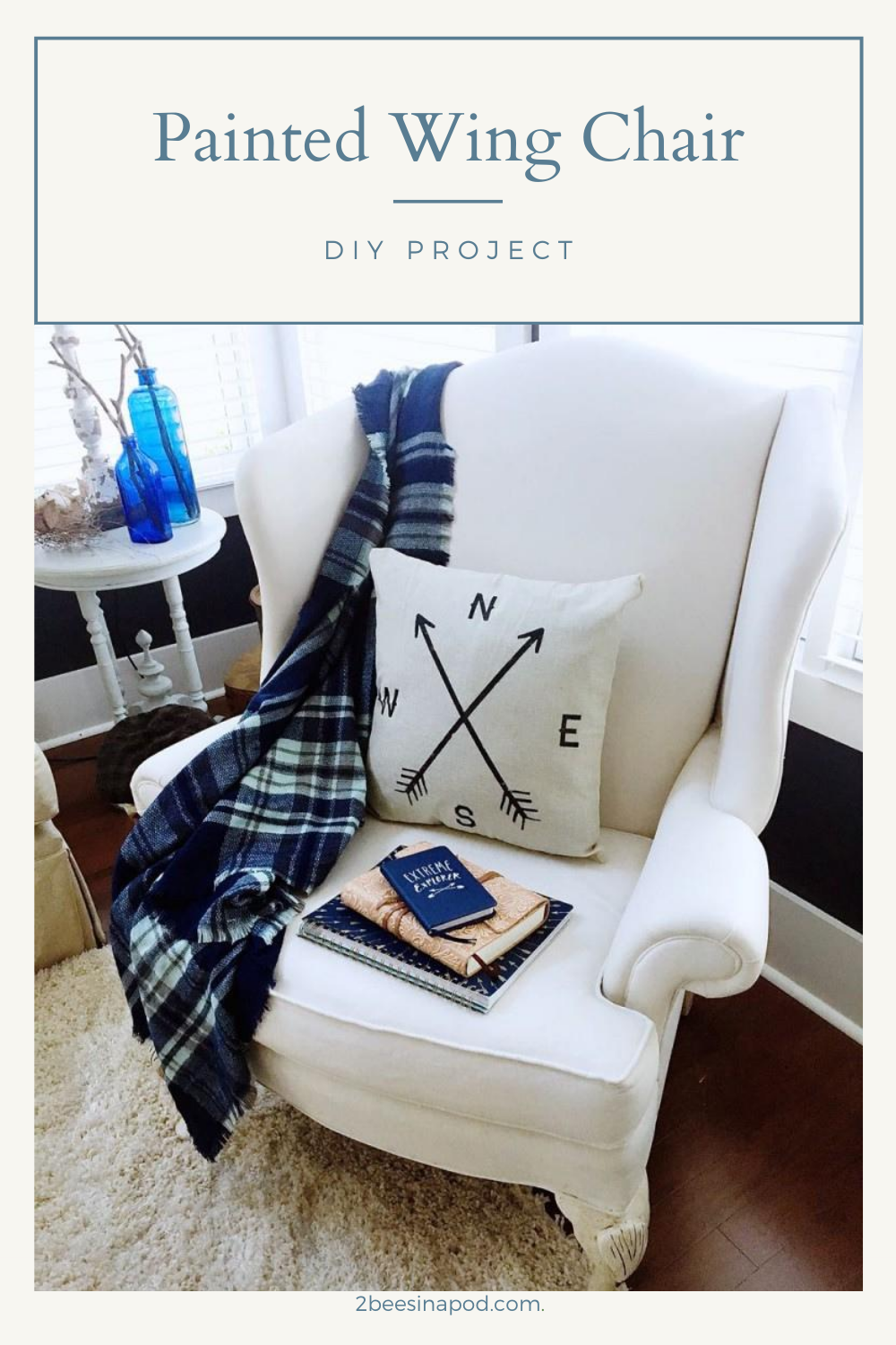 Painted Wing Chair - DIY Project