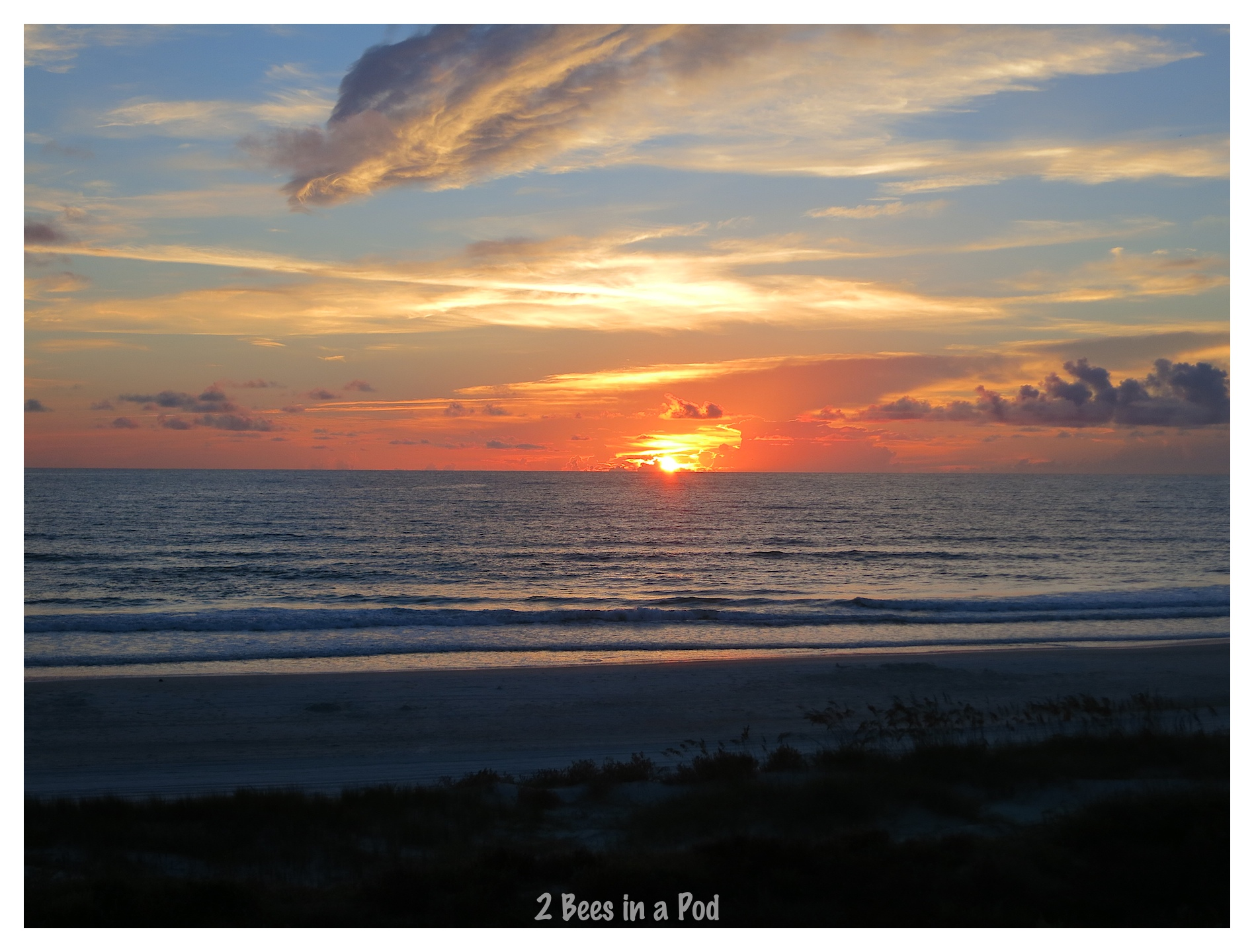 Daily sunrise from our viewpoint on Crescent Beach, Florida
