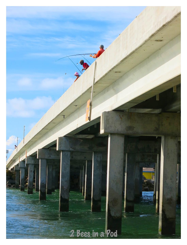 Fisherman on the bridge at Crescent Beach, Florida