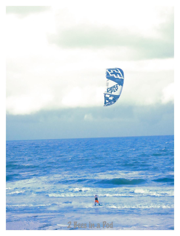 Wind/surf board - kite flyer at Crescent Beach, Florida