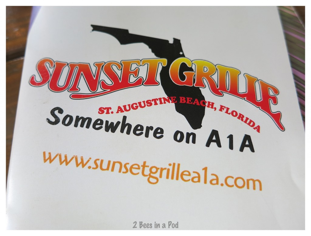 Sunset Grille at St. Augustine Beach - great roof top deck