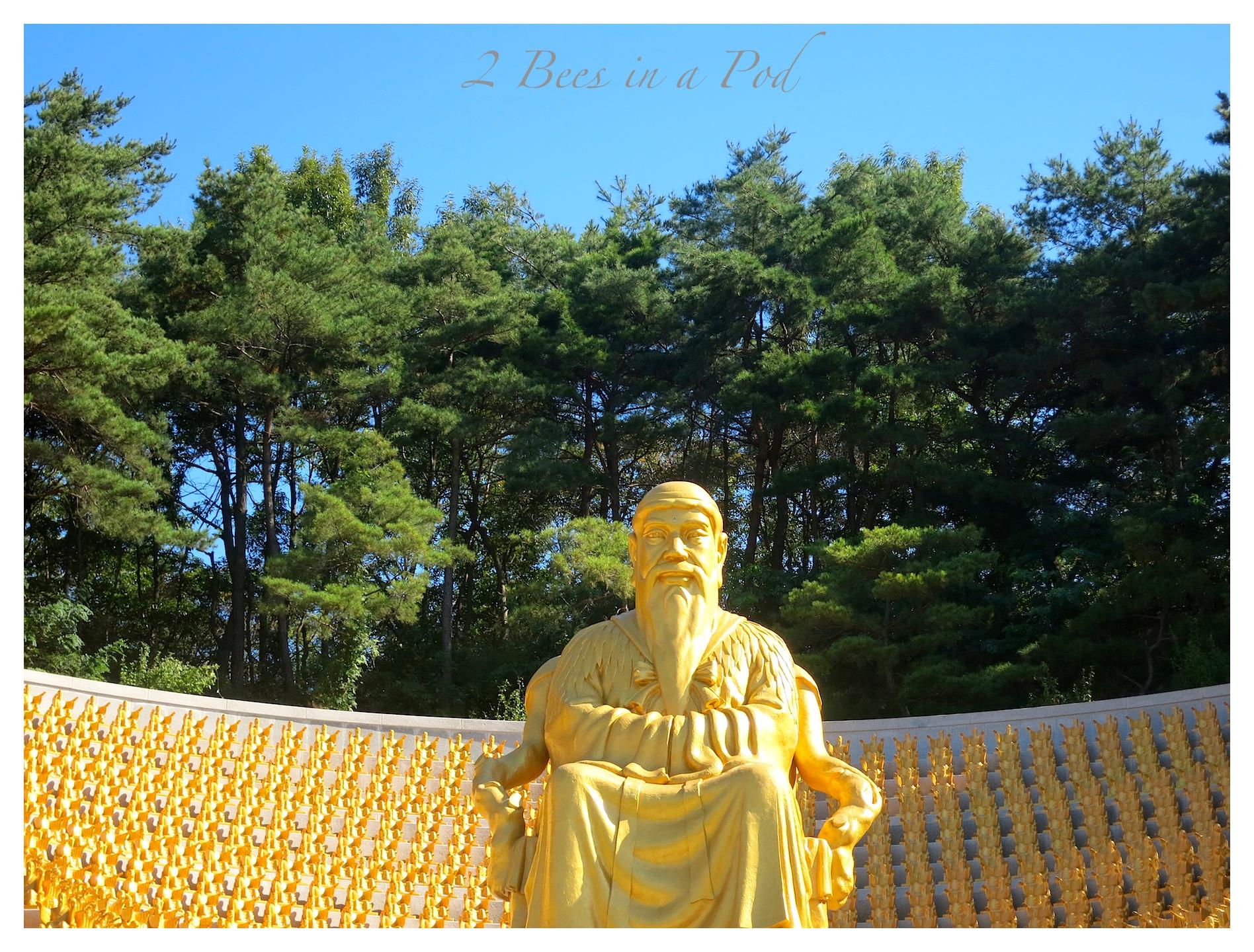 We saw Gold statues Korea throughout South Korea