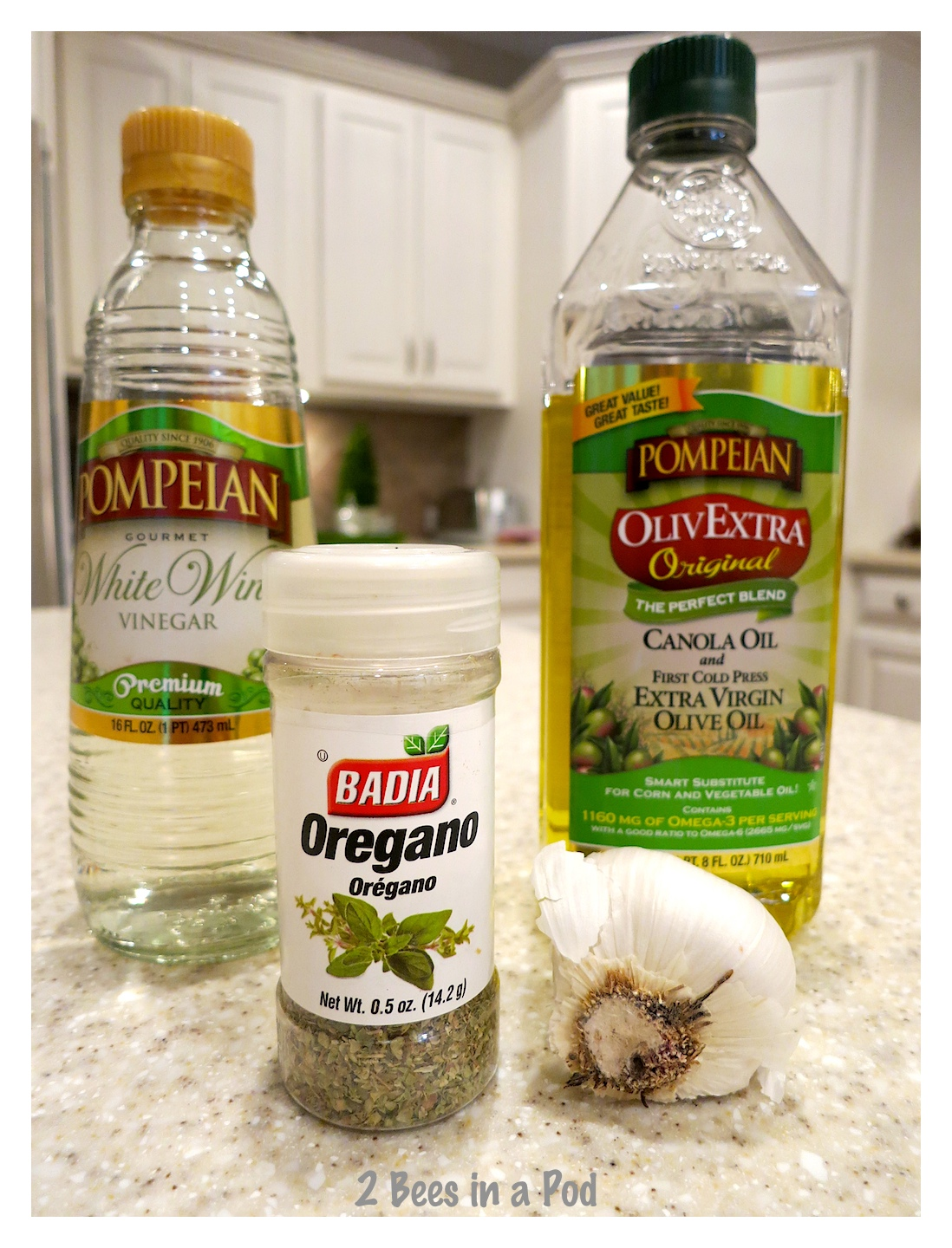 Just a few ingredients needed for the delicious dressing for the 1905 salad recipe