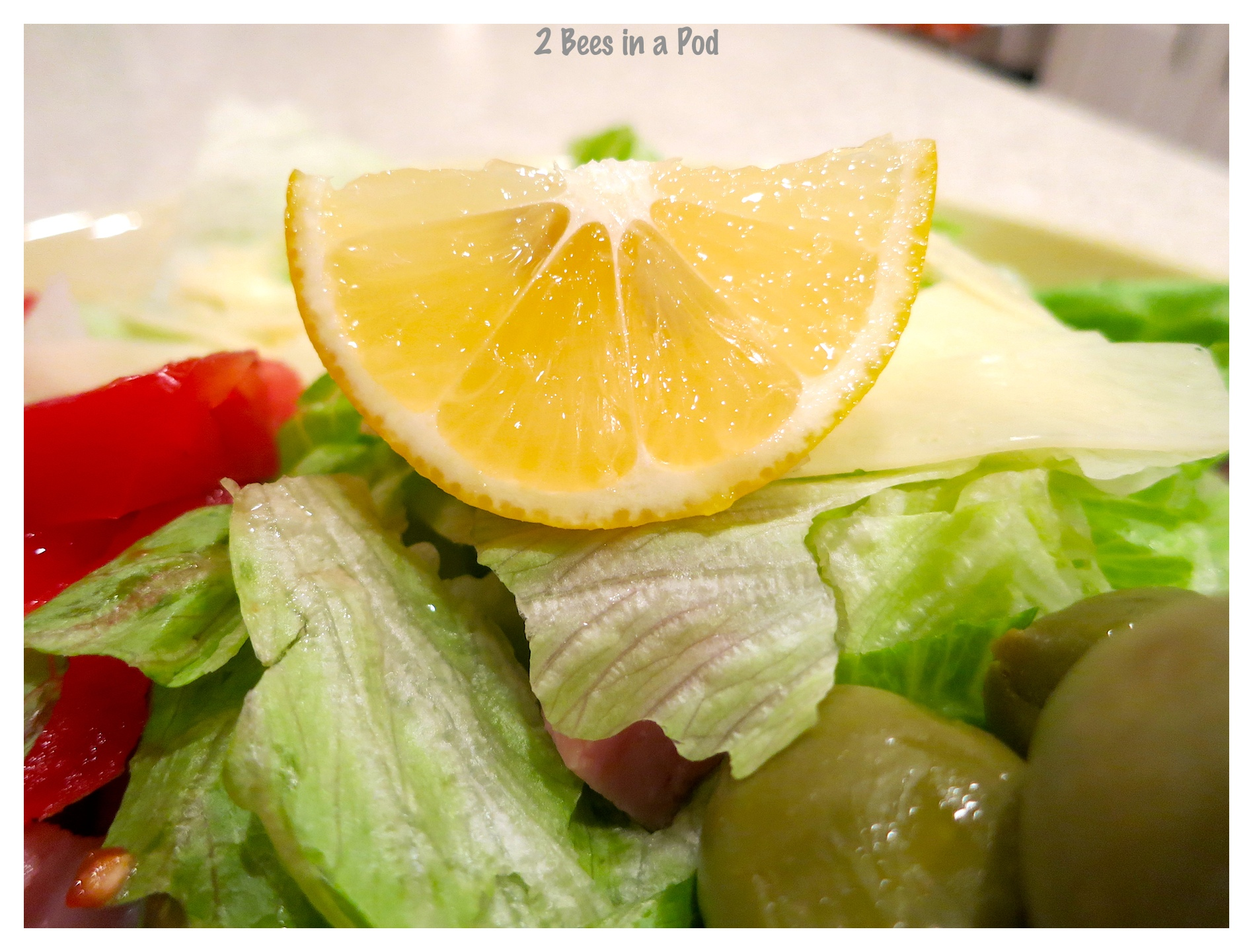 """Juice from the lemon finishes off the salad.Recipe from the Columbia Restaurant - """"1905"""" Salad"""