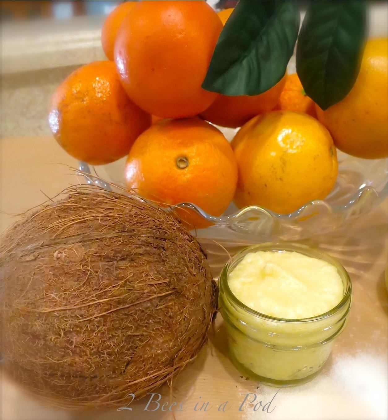 Coconut and Orange Sugar Body Scrub…Homemade