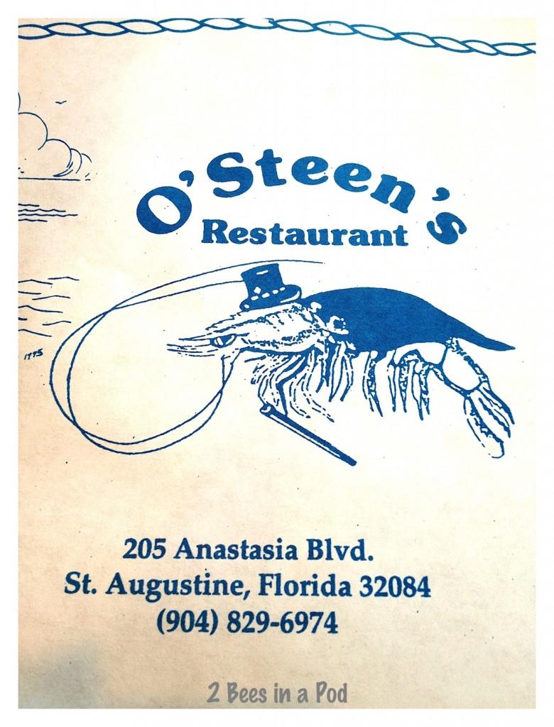 Osteen's Restaurant in St. Augustine, FL - wonderful shrimp platter