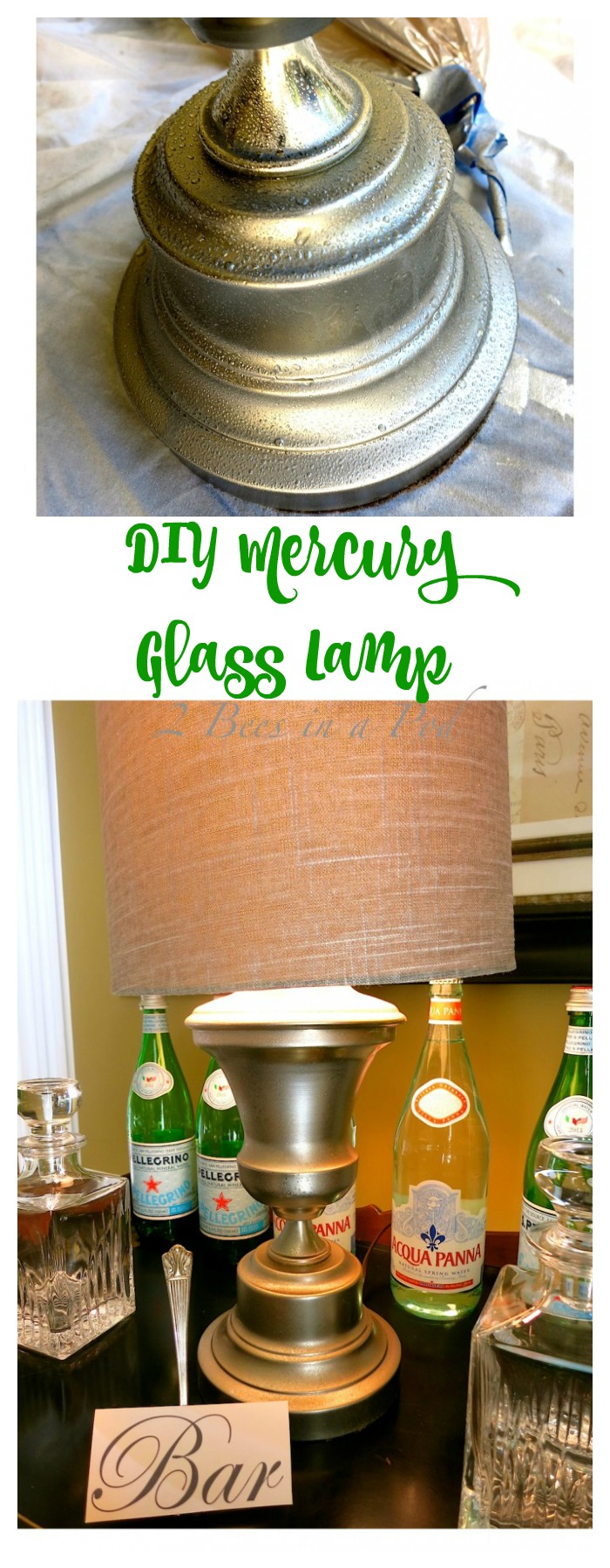 Looking glass spray paint will give you the instant look of vintage mercury glass.