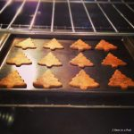 1-Christmas Tree Dog Treats in the Oven. Homemade with Pumpkin & Peanut Butter
