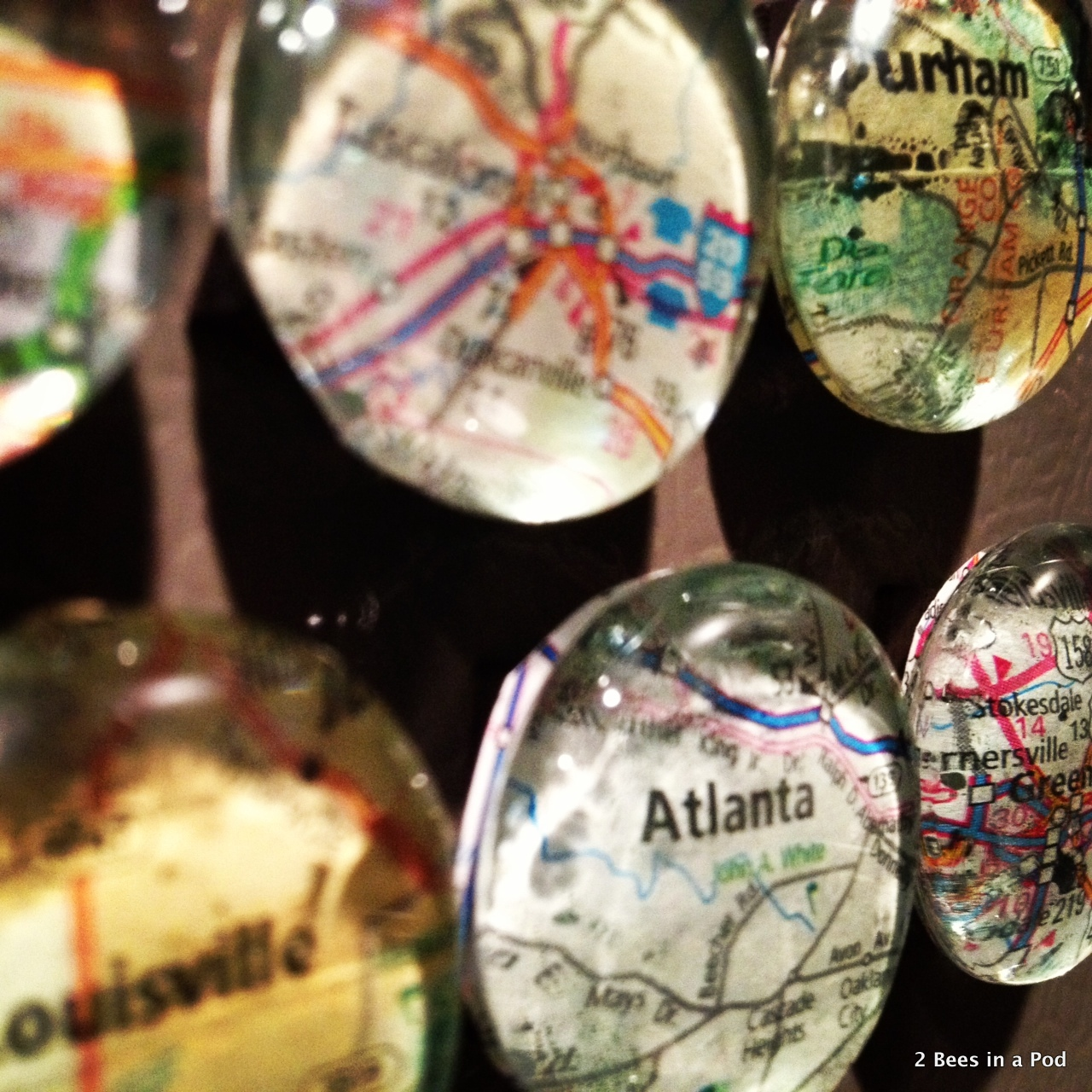 1-Map Magnets...DIY. Great gift for Christmas