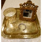 Reviving a 10 cent hammered brass tray