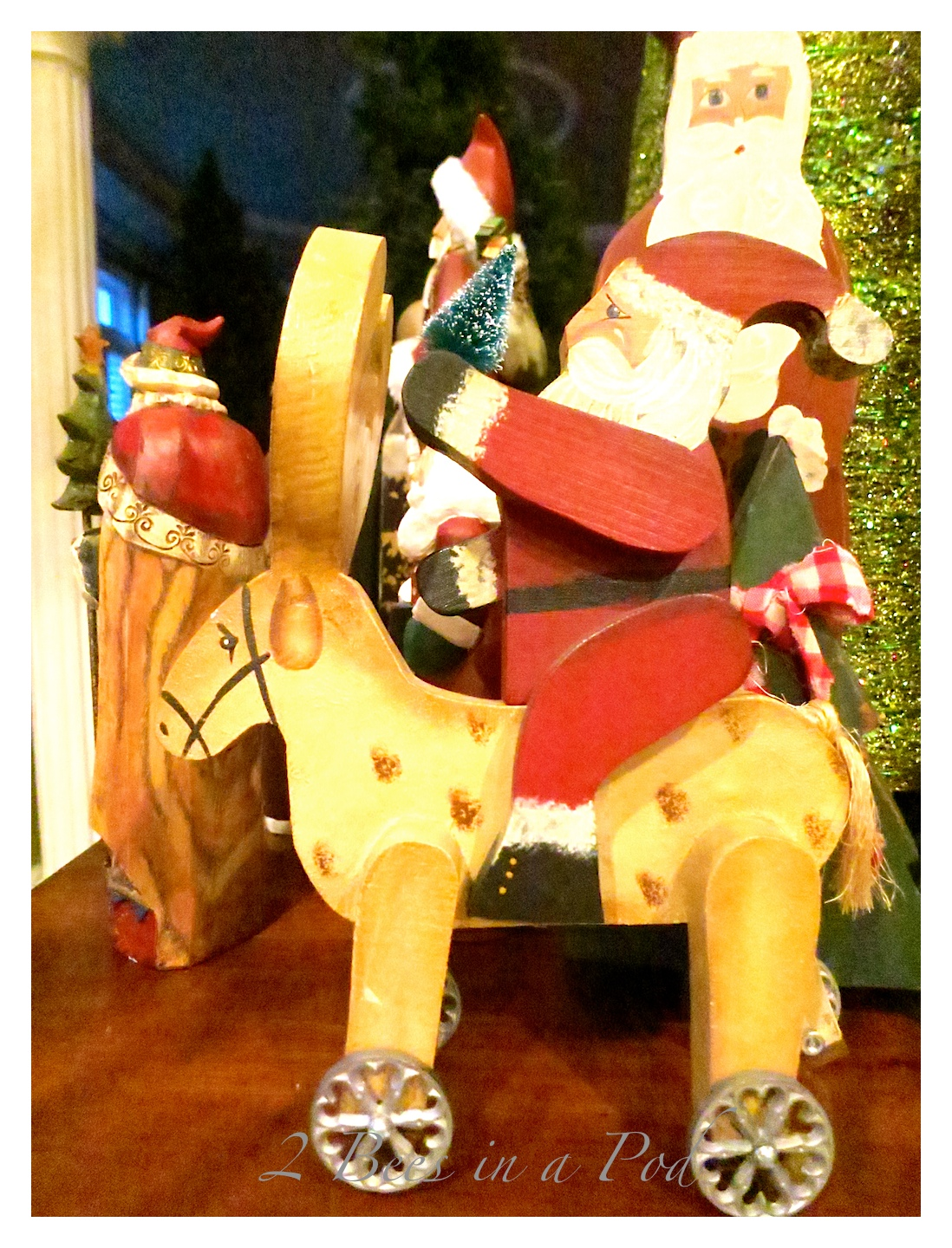 Handmade and painted vintage Santa Claus