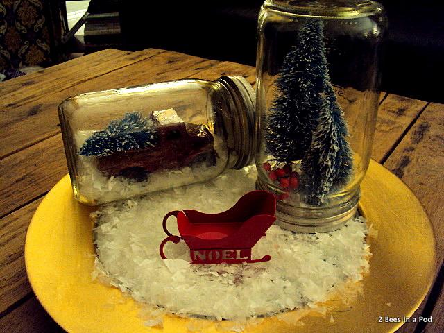 Mason Jar Christmas Vignettes