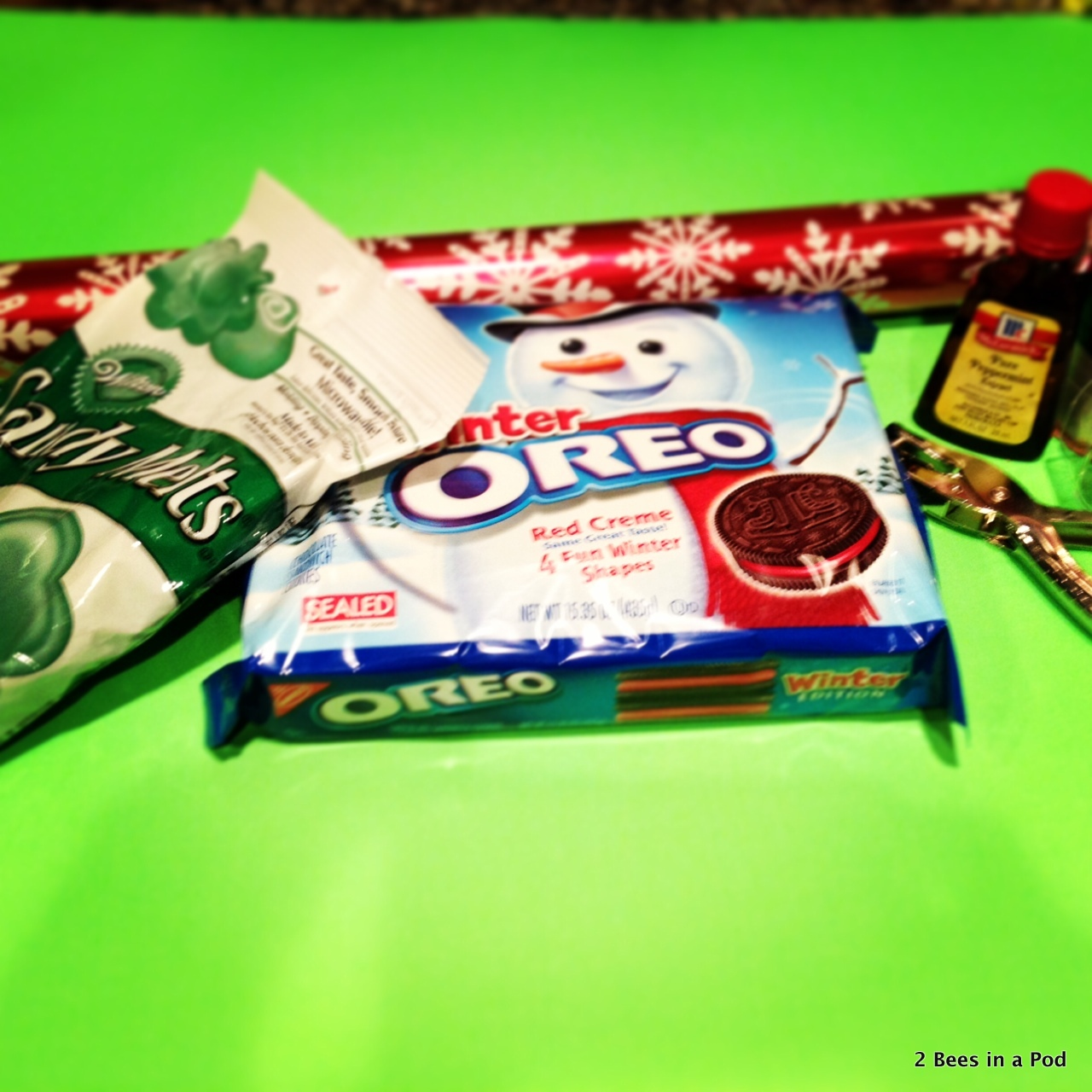 What you will need for Mint Oreos & Elf Feet