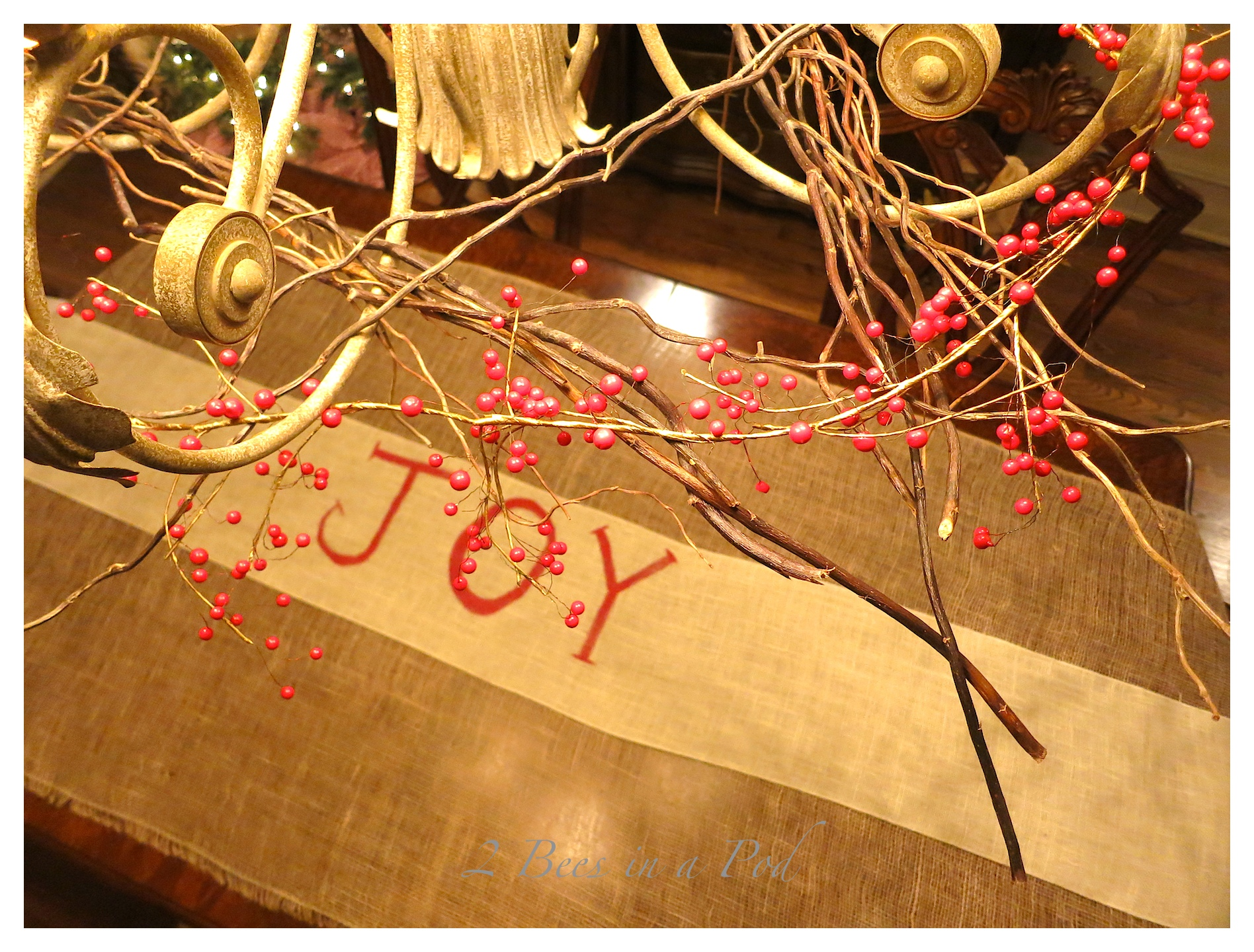 Joy Table Runner for the Christmas Table…