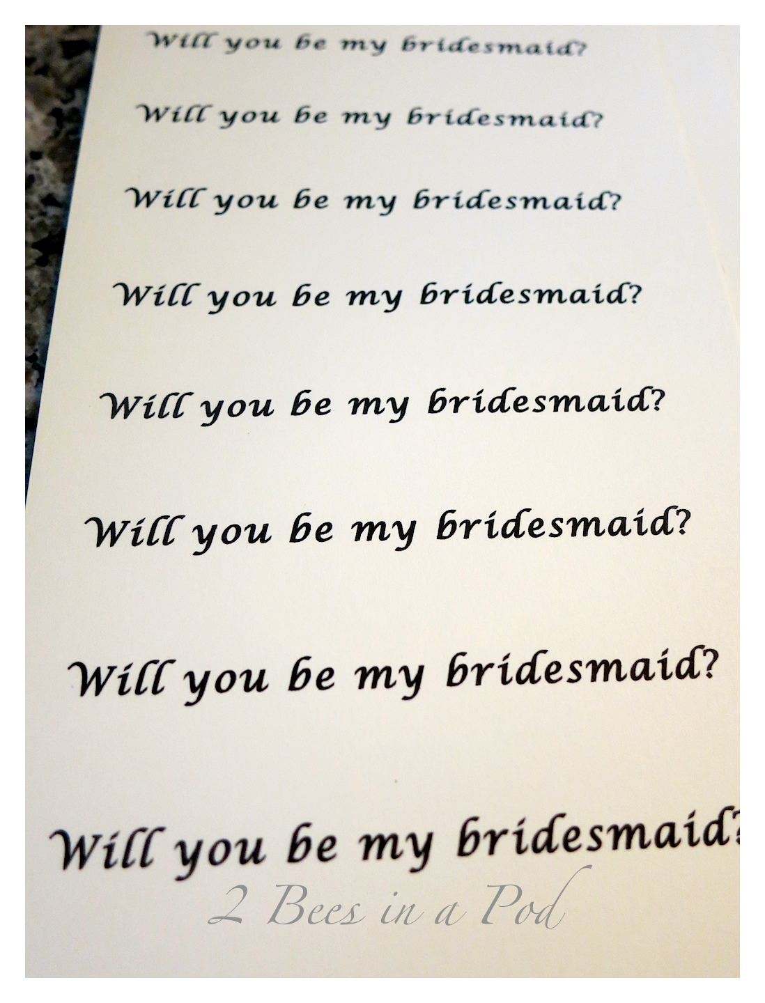 Will you be my bridesmaid for glass ornaments
