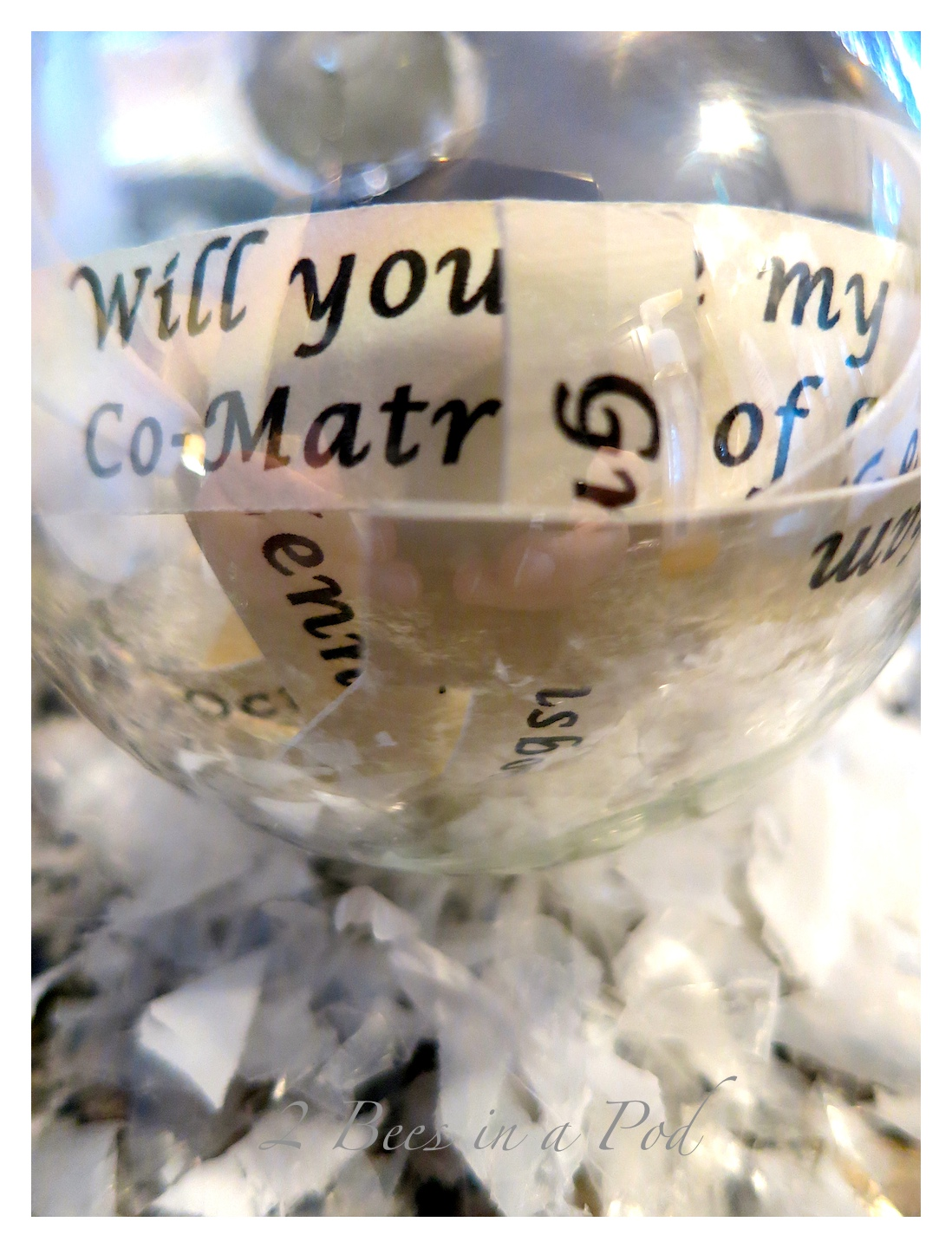 """""""Will you be my bridesmaid?"""" ornament"""
