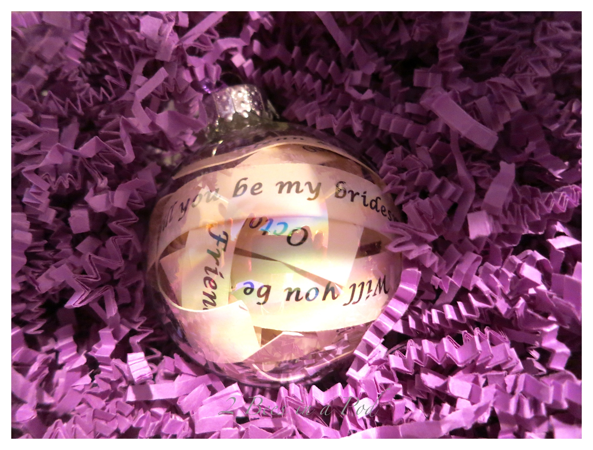"""Will you be my bridesmaid?"" ornament"