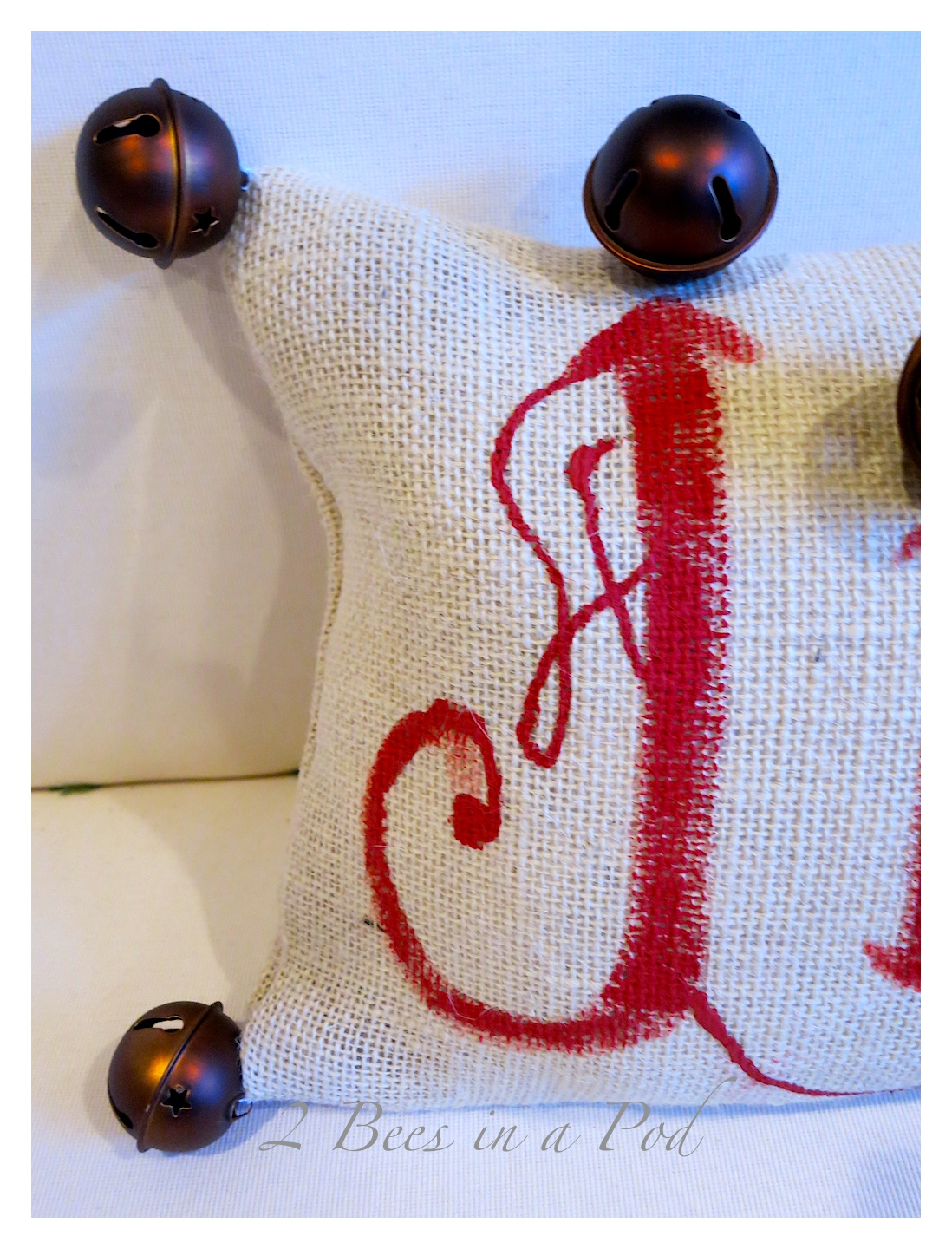 Pottery Barn Inspired Jingle Pillow 2 Bees In A Pod