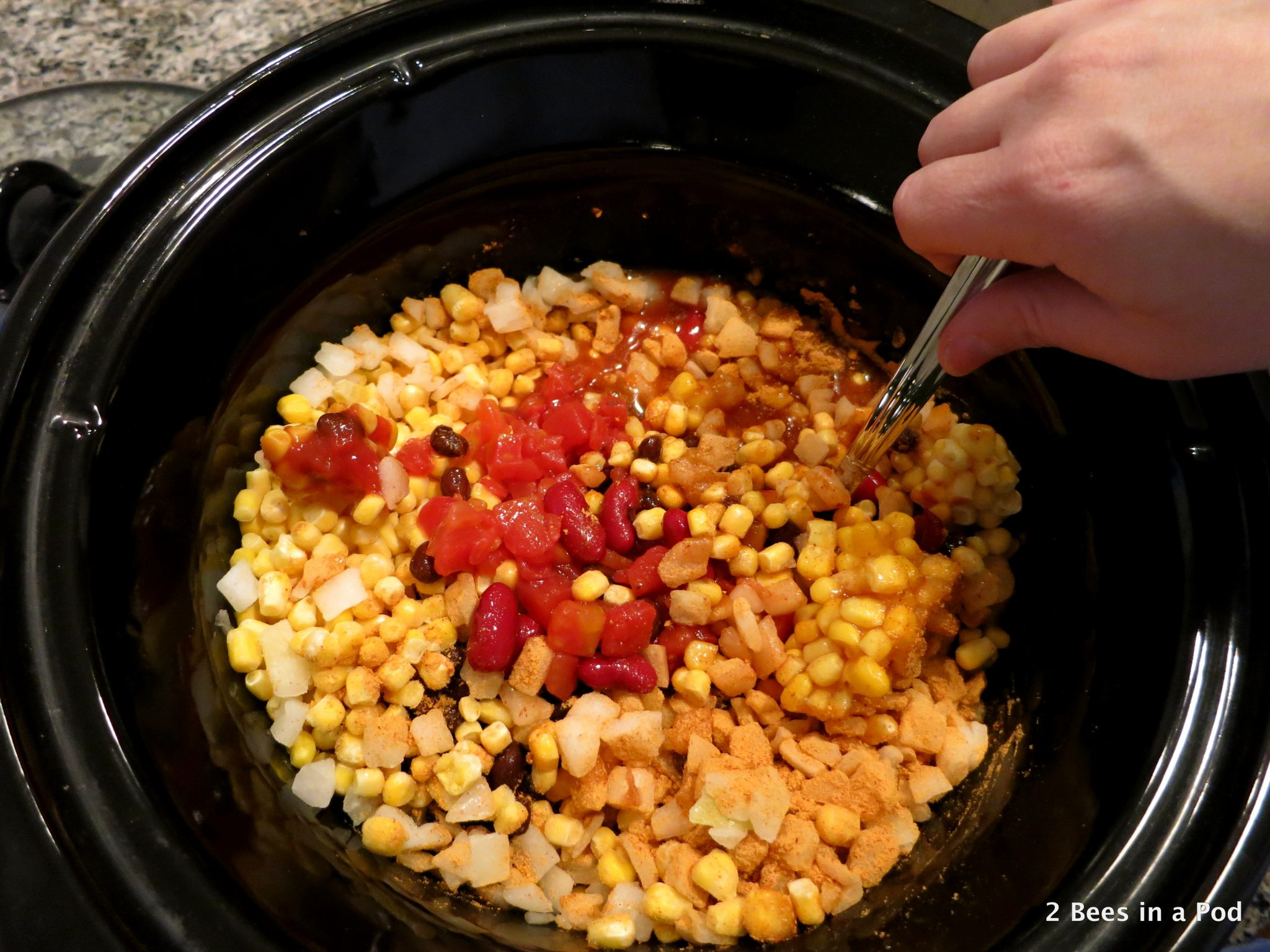 Diced Tomatoes Crock Pot Chicken Taco Chili - Weight Watchers